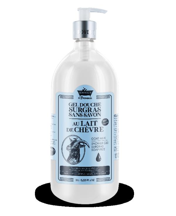 lait chèvre gel douche surgras sans savon