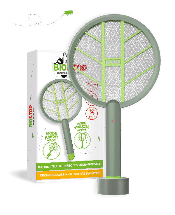 raquette rechargeable electrique biostop