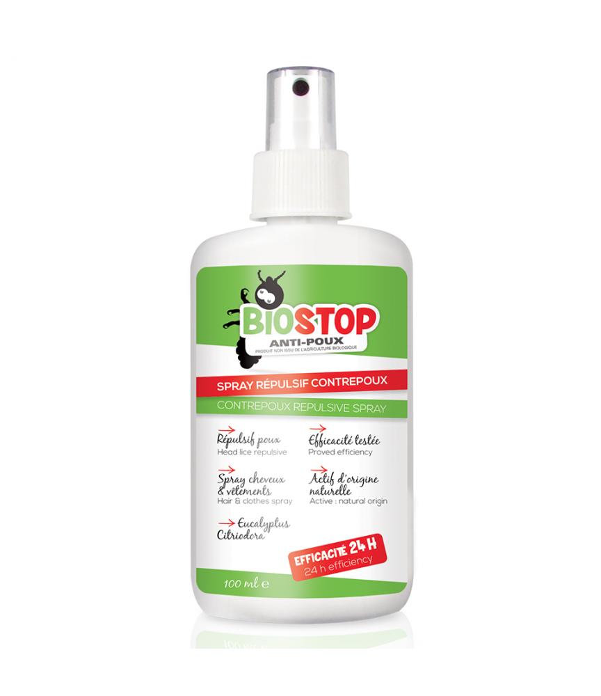 spray repulsif contre poux biostop